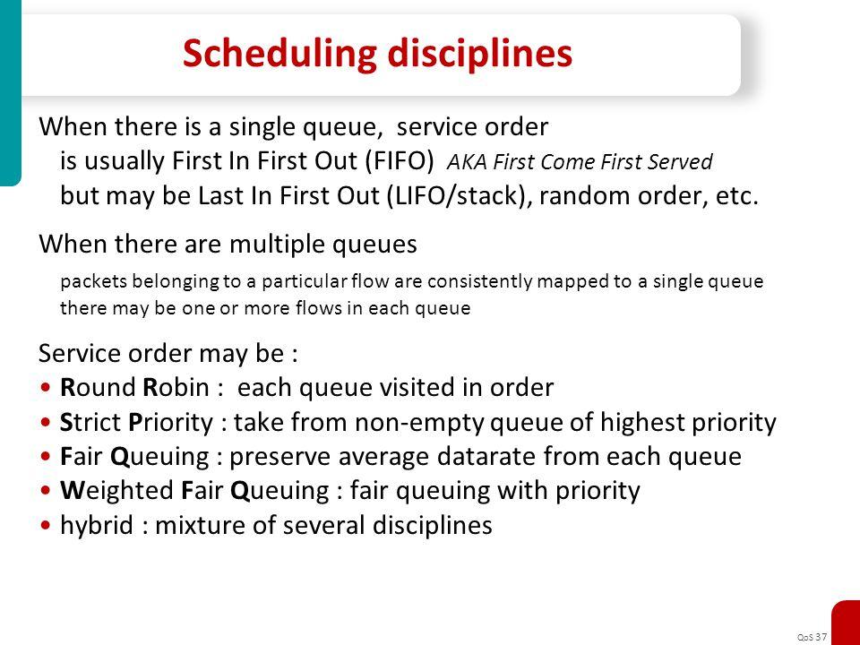 Scheduling disciplines