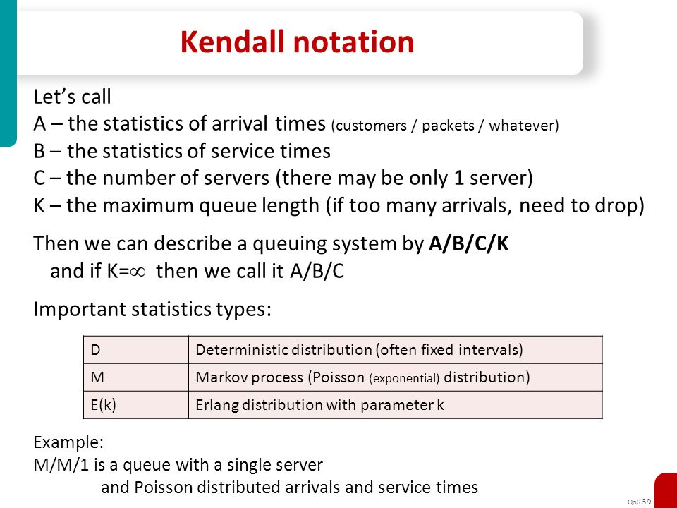 Kendall notation Let's call