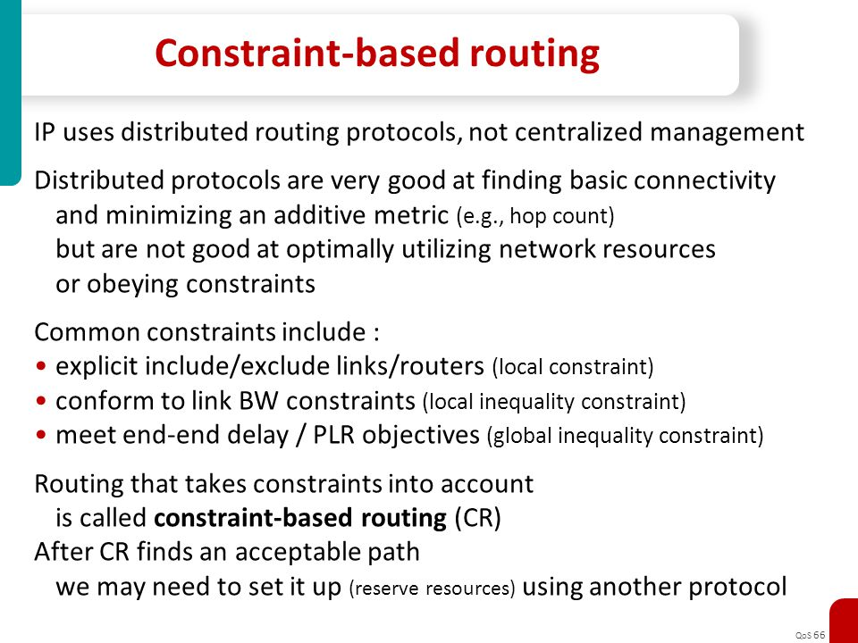 Constraint-based routing
