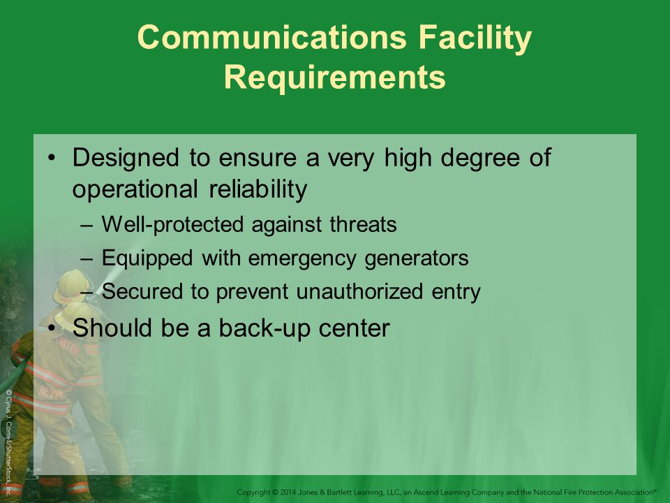 Communications Facility Requirements