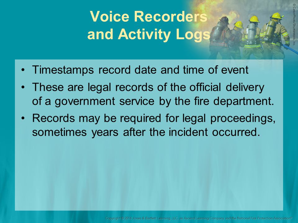 Voice Recorders and Activity Logs