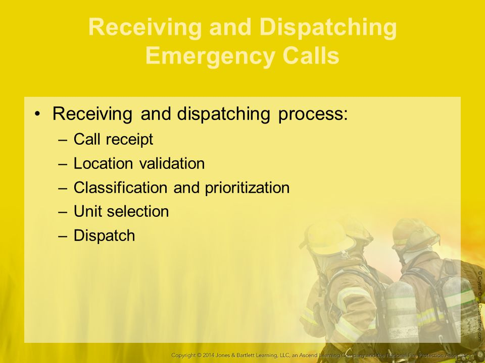 Receiving and Dispatching Emergency Calls