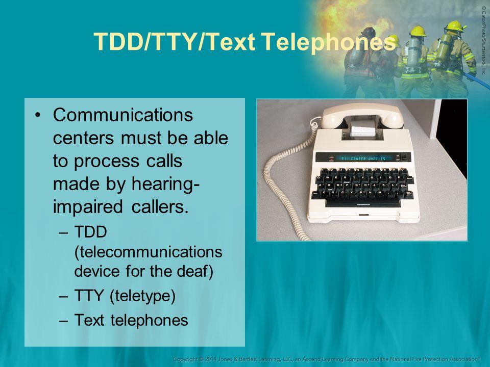 TDD/TTY/Text Telephones