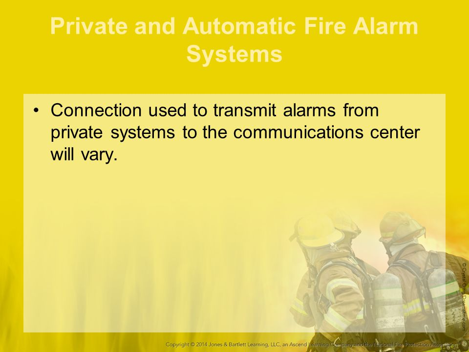 Private and Automatic Fire Alarm Systems
