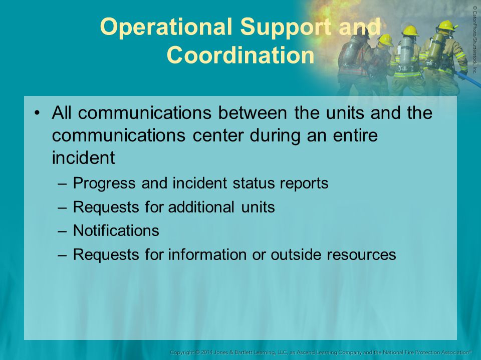 Operational Support and Coordination
