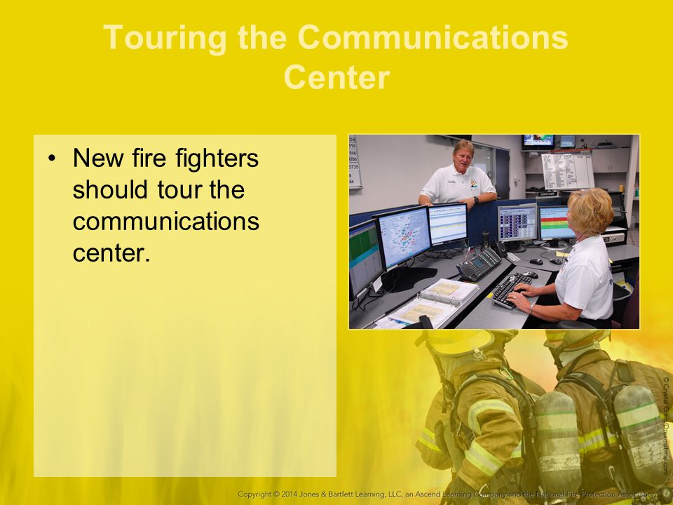 Touring the Communications Center