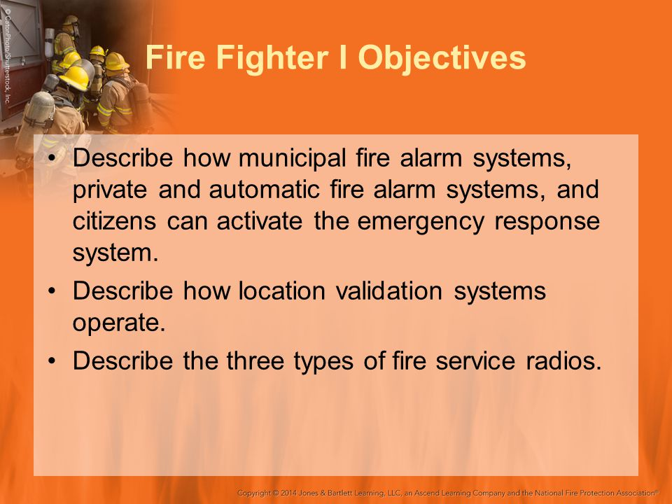 Fire Fighter I Objectives