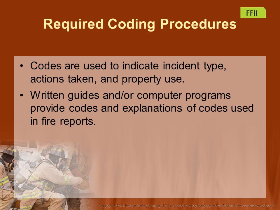 Required Coding Procedures