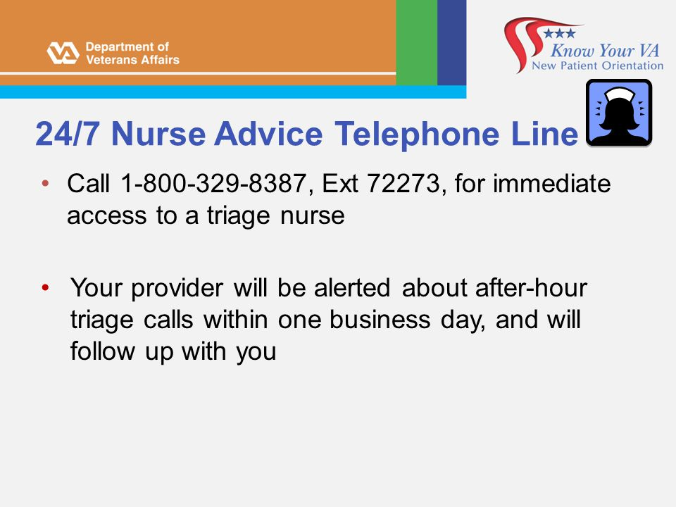 24/7 Nurse Advice Telephone Line
