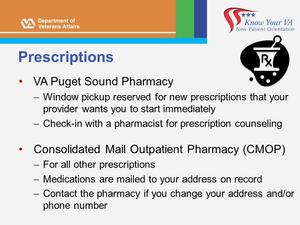 Prescriptions VA Puget Sound Pharmacy