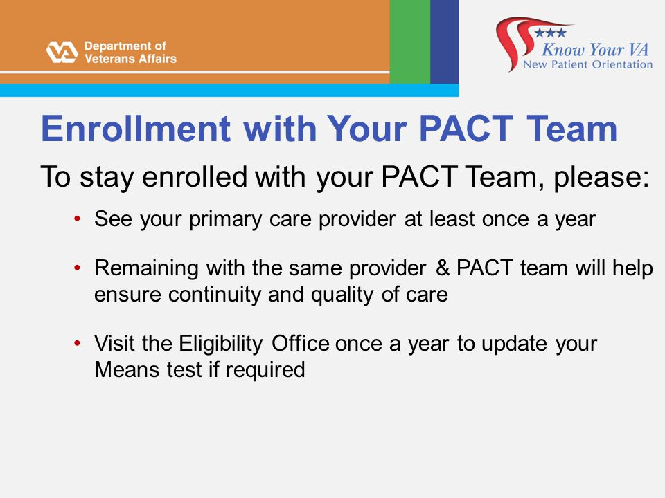 Enrollment with Your PACT Team