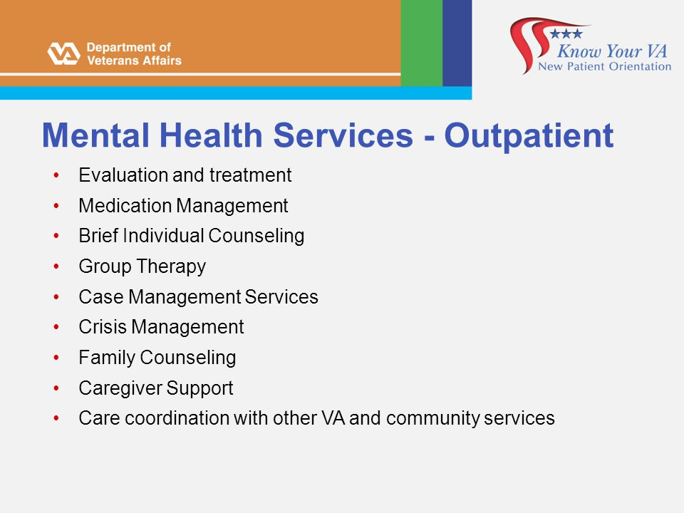 Mental Health Services - Outpatient
