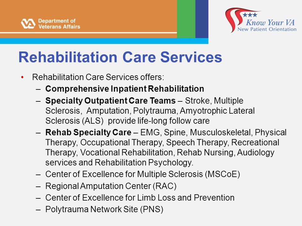Rehabilitation Care Services