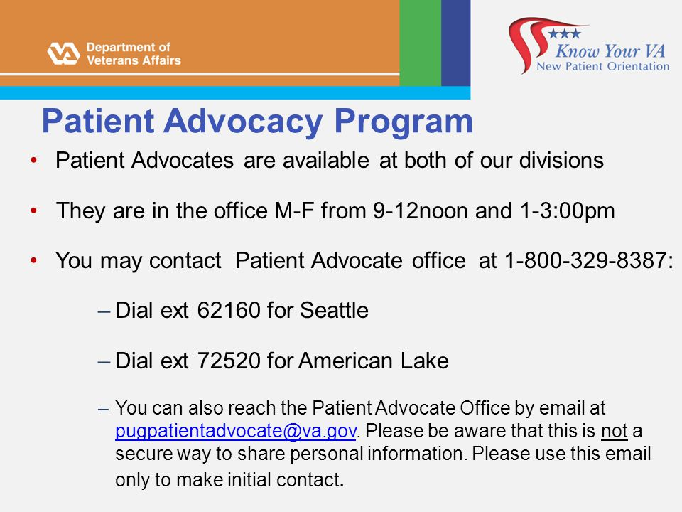 Patient Advocacy Program