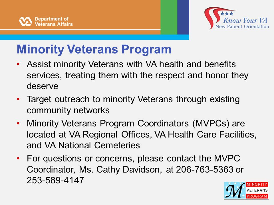 Minority Veterans Program