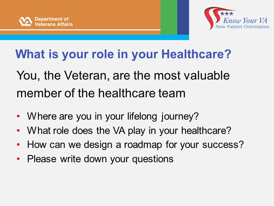What is your role in your Healthcare