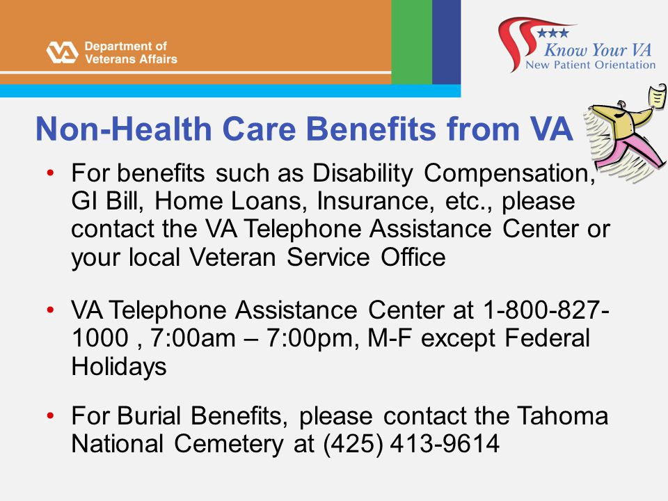 Non-Health Care Benefits from VA