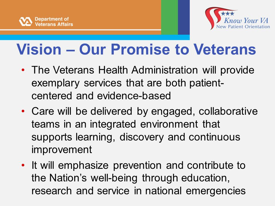 Vision – Our Promise to Veterans