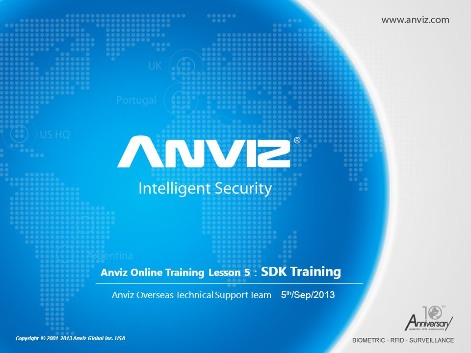 Anviz Online Training Lesson 5:SDK Training
