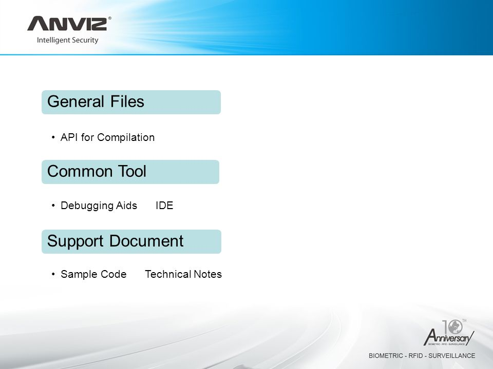 General Files Common Tool Support Document API for Compilation