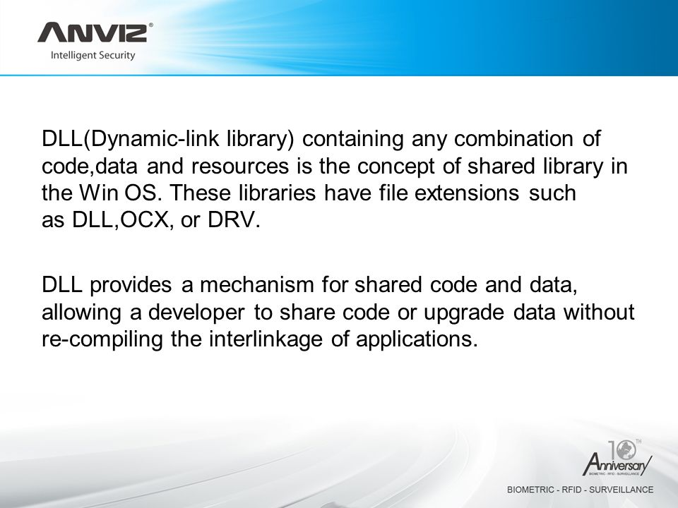 DLL(Dynamic-link library) containing any combination of code,data and resources is the concept of shared library in the Win OS.