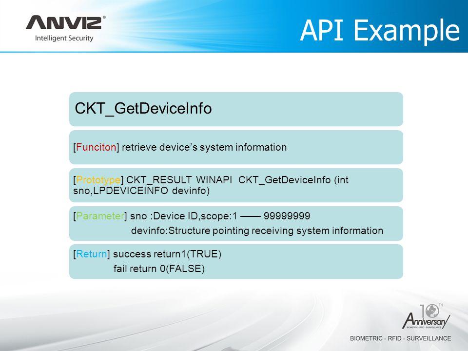 API Example CKT_GetDeviceInfo