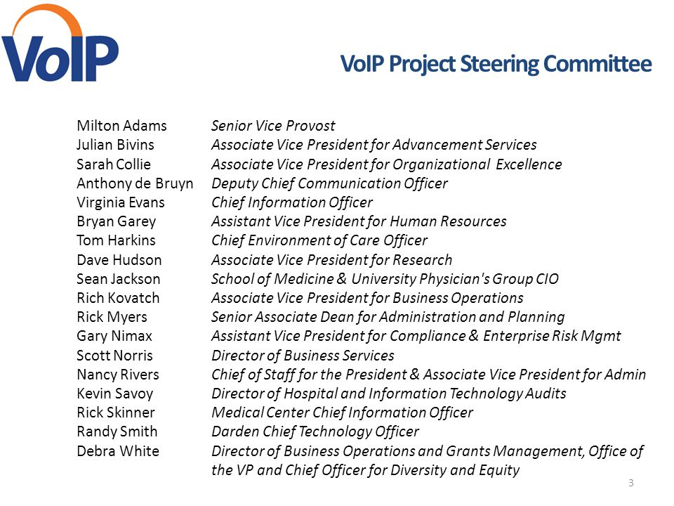 VoIP Project Steering Committee
