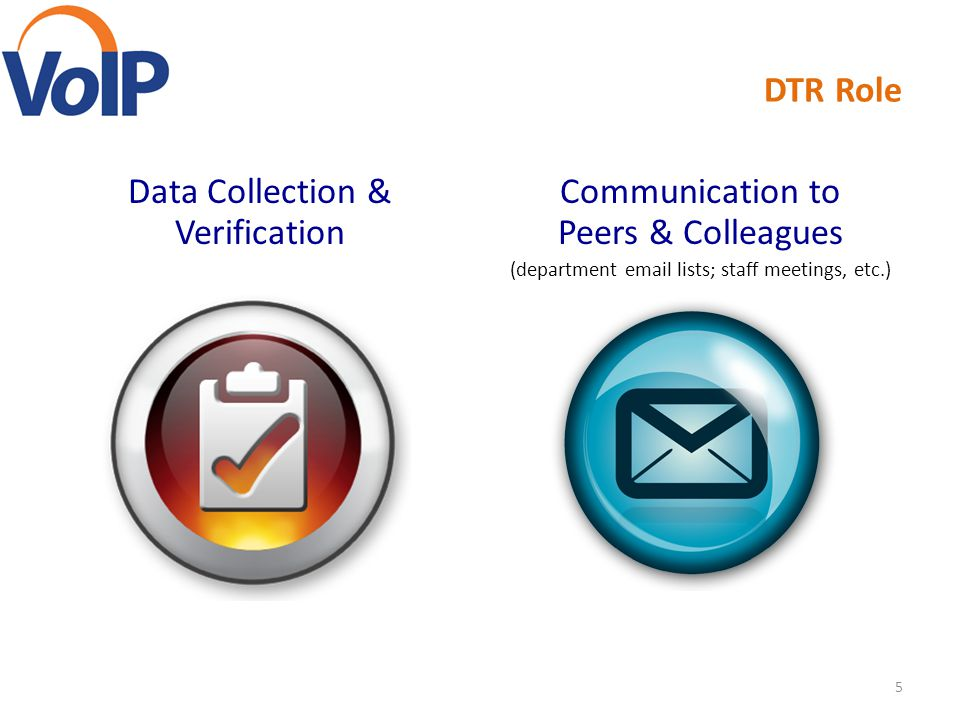 Data Collection & Verification Communication to Peers & Colleagues