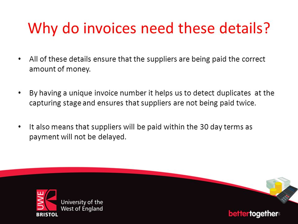 Why do invoices need these details