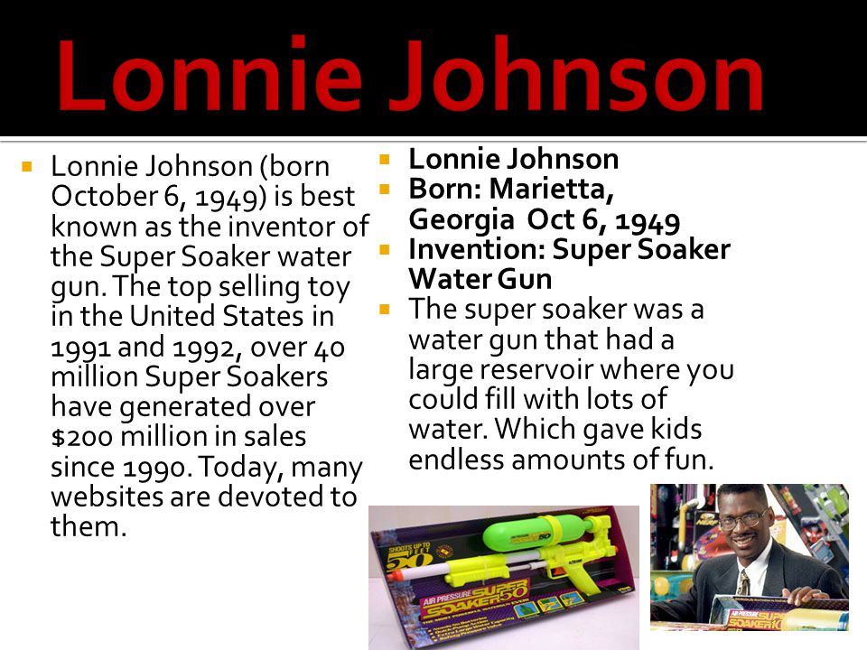 Lonnie Johnson Lonnie Johnson