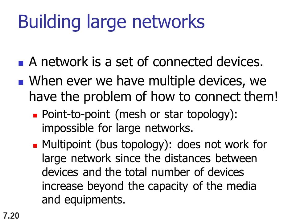 Building large networks