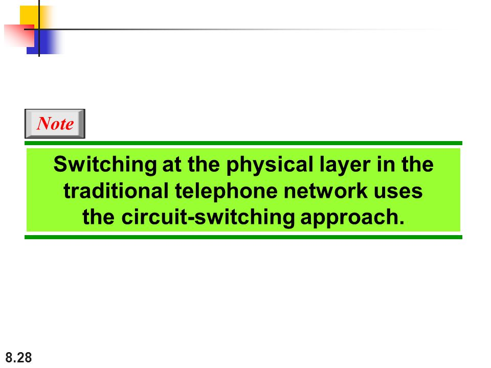 the circuit-switching approach.