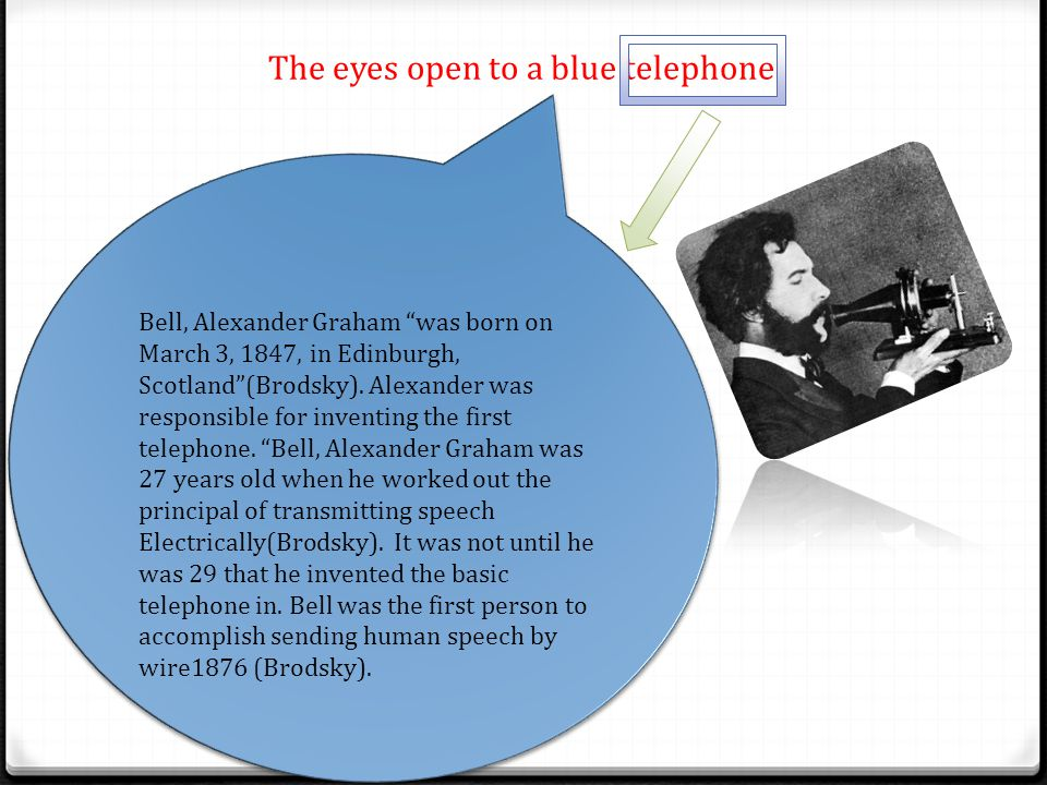 The eyes open to a blue telephone