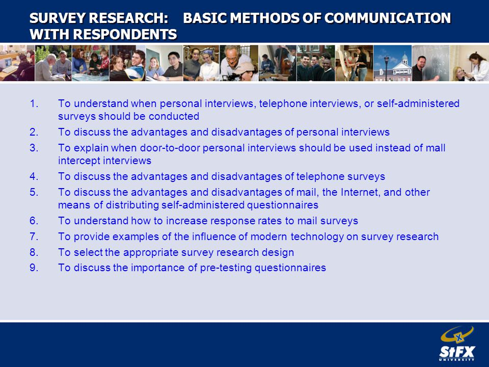 survey research communicating with respondents Your experiences talking to family members about the inherited mutation in your family: results from the about network family communication survey by.