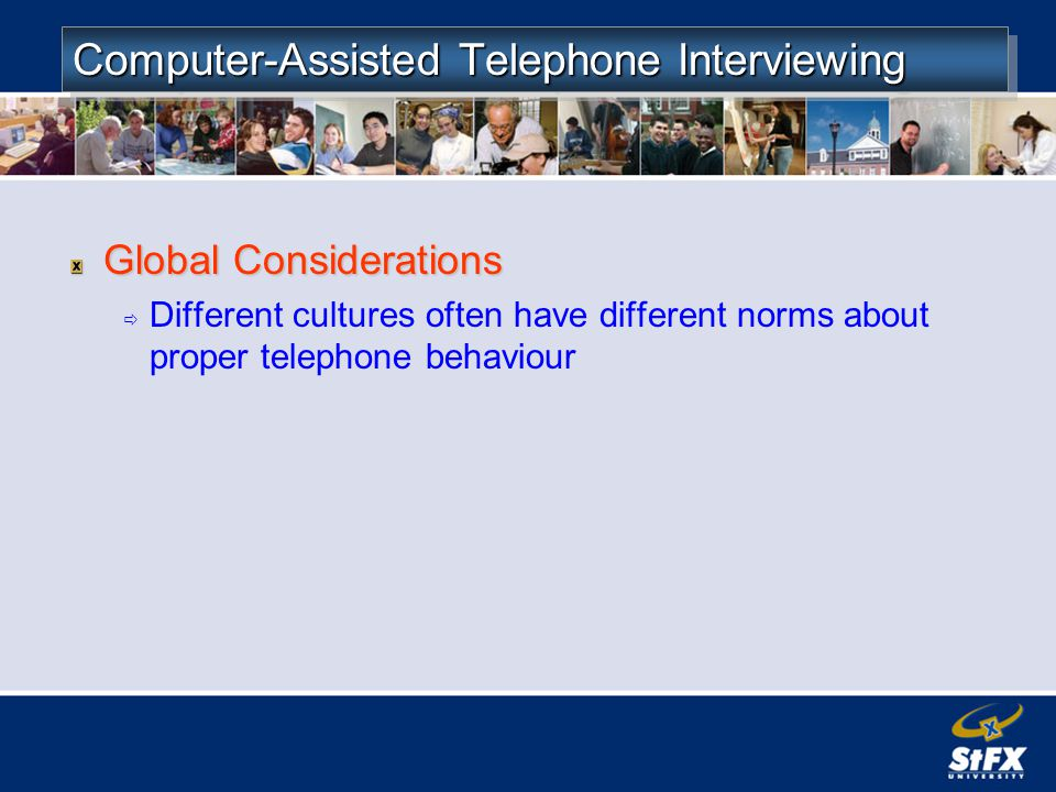 Computer-Assisted Telephone Interviewing