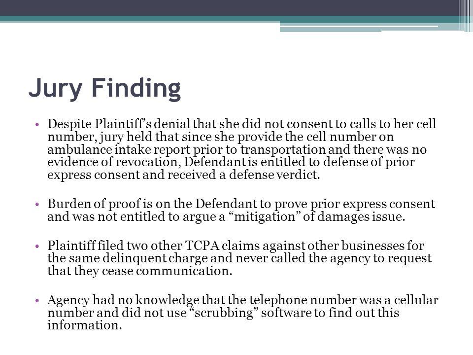 Jury Finding