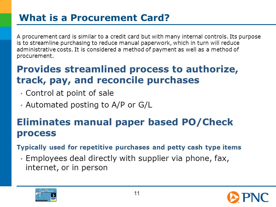 What is a Procurement Card