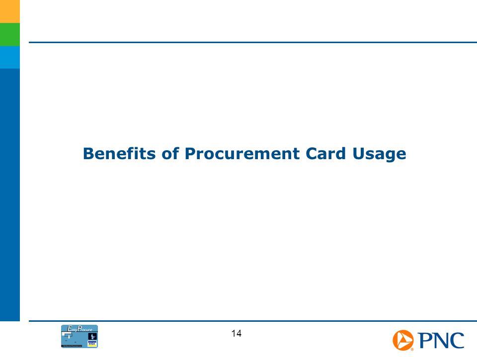 Benefits of Procurement Card Usage