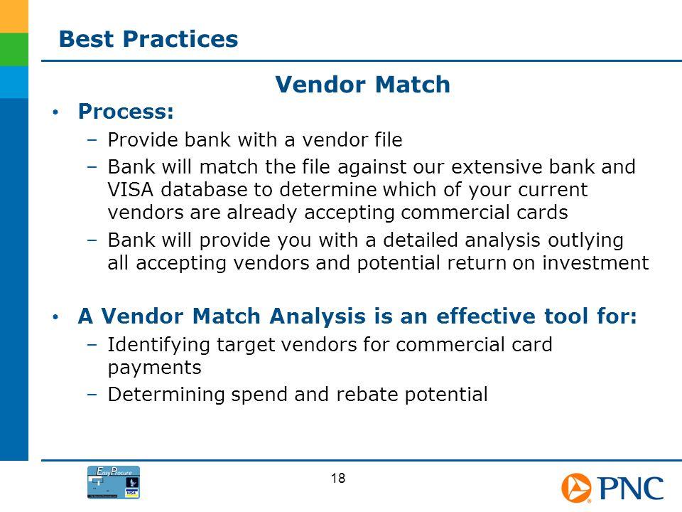 Best Practices Vendor Match Process: