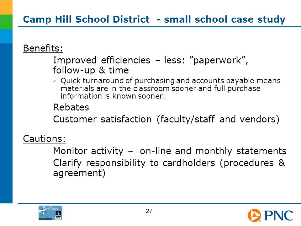 Camp Hill School District - small school case study