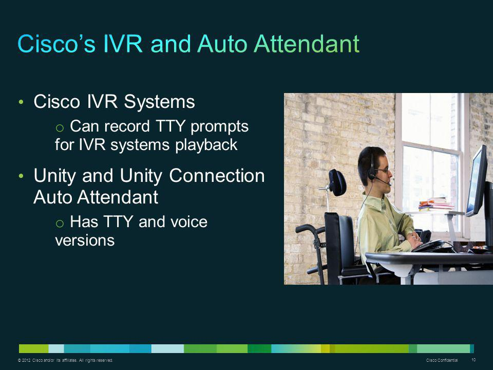 Cisco's IVR and Auto Attendant