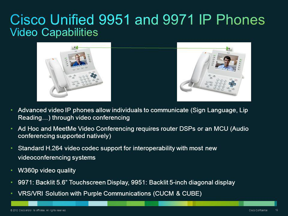 Cisco Unified 9951 and 9971 IP Phones Video Capabilities