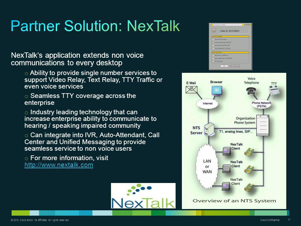 Partner Solution: NexTalk
