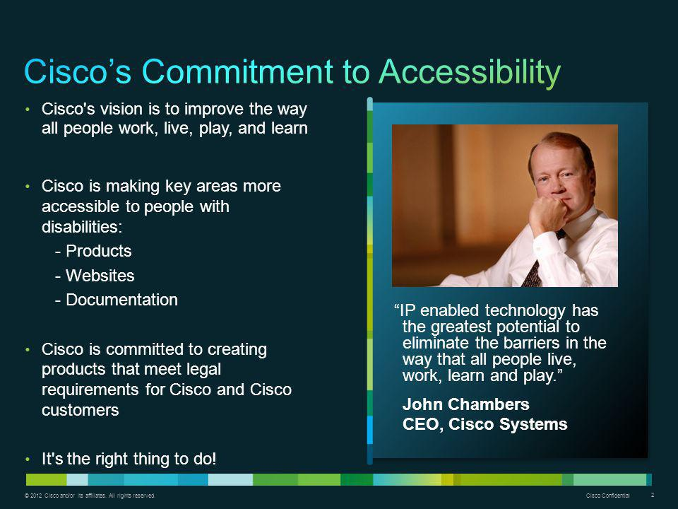 Cisco's Commitment to Accessibility