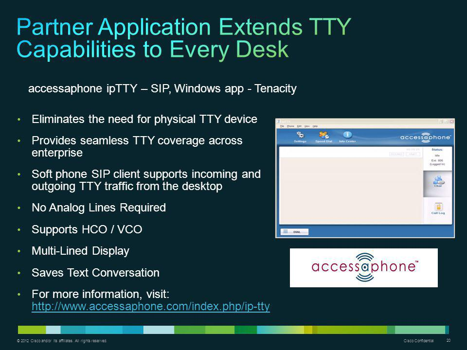 Partner Application Extends TTY Capabilities to Every Desk