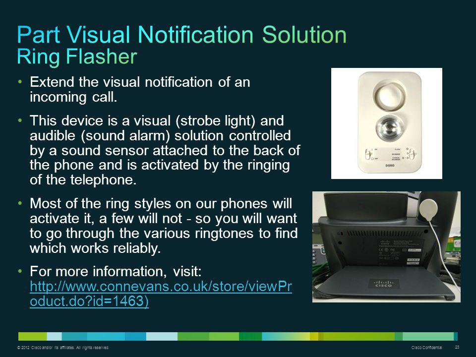 Part Visual Notification Solution Ring Flasher
