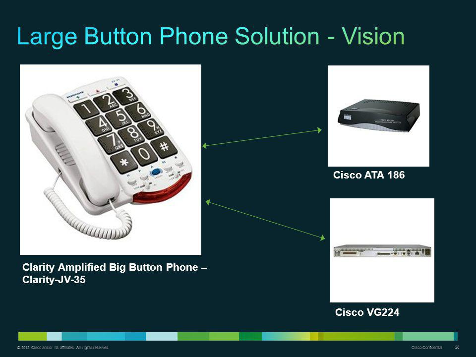 Large Button Phone Solution - Vision