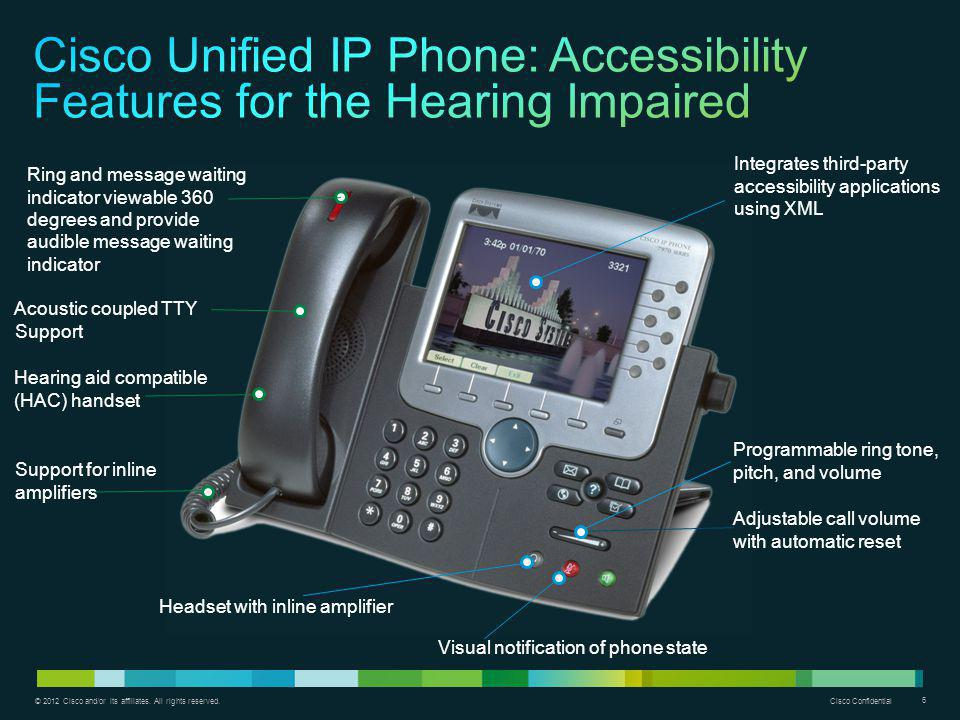 Cisco Unified IP Phone: Accessibility Features for the Hearing Impaired
