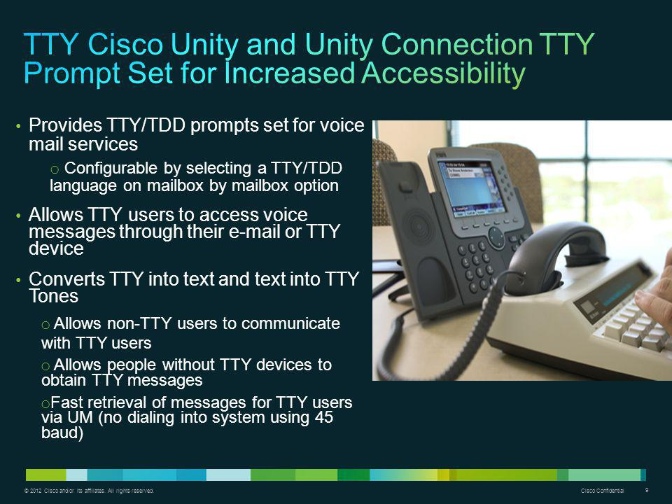 TTY Cisco Unity and Unity Connection TTY Prompt Set for Increased Accessibility