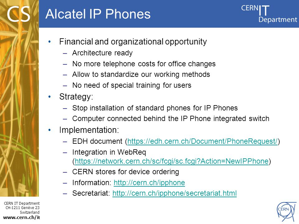 Alcatel IP Phones Financial and organizational opportunity Strategy: